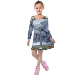 Winter 1660924 1920 Kids  Long Sleeve Velvet Dress