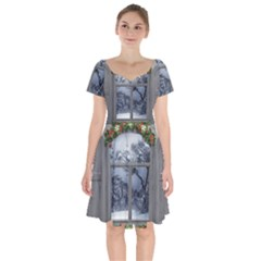 Winter 1660924 1920 Short Sleeve Bardot Dress