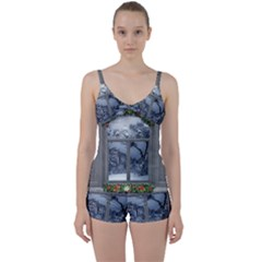 Winter 1660924 1920 Tie Front Two Piece Tankini