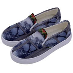 Winter 1660924 1920 Kids  Canvas Slip Ons