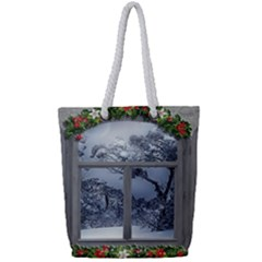 Winter 1660924 1920 Full Print Rope Handle Tote (Small)