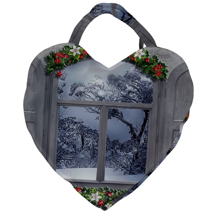 Winter 1660924 1920 Giant Heart Shaped Tote