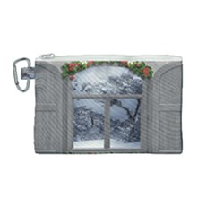 Winter 1660924 1920 Canvas Cosmetic Bag (medium)