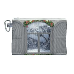 Winter 1660924 1920 Canvas Cosmetic Bag (Large)
