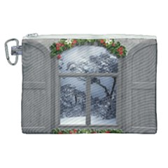 Winter 1660924 1920 Canvas Cosmetic Bag (XL)