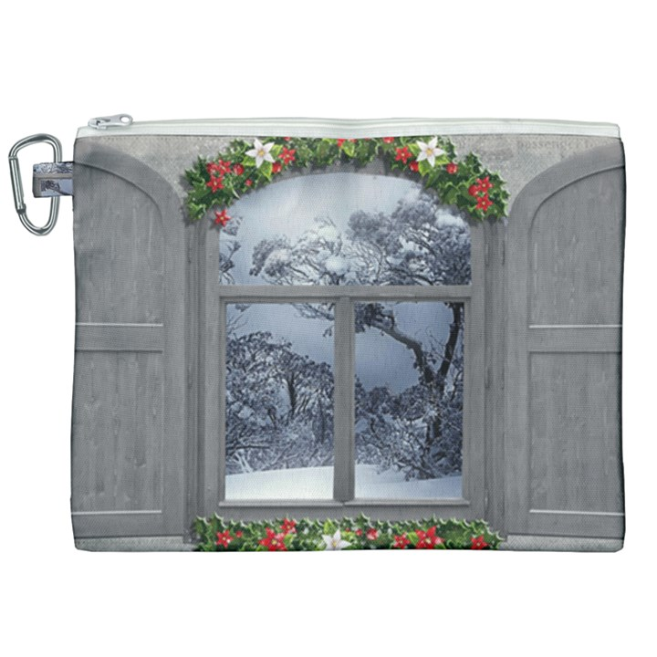 Winter 1660924 1920 Canvas Cosmetic Bag (XXL)