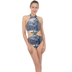 Winter 1660924 1920 Halter Side Cut Swimsuit