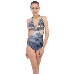 Winter 1660924 1920 Halter Front Plunge Swimsuit