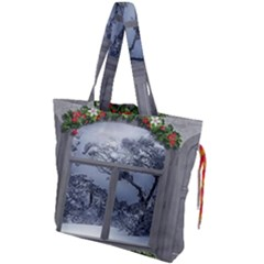 Winter 1660924 1920 Drawstring Tote Bag