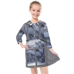 Winter 1660924 1920 Kids  Quarter Sleeve Shirt Dress