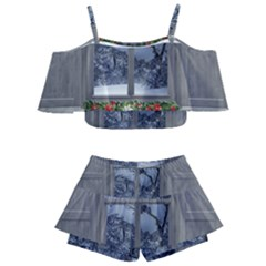 Winter 1660924 1920 Kids  Off Shoulder Skirt Bikini