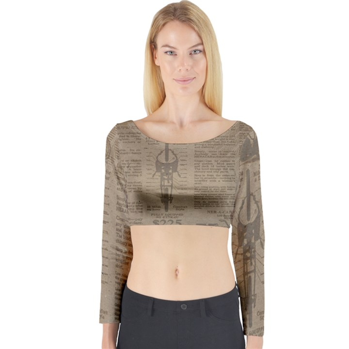 Background 1706636 1920 Long Sleeve Crop Top