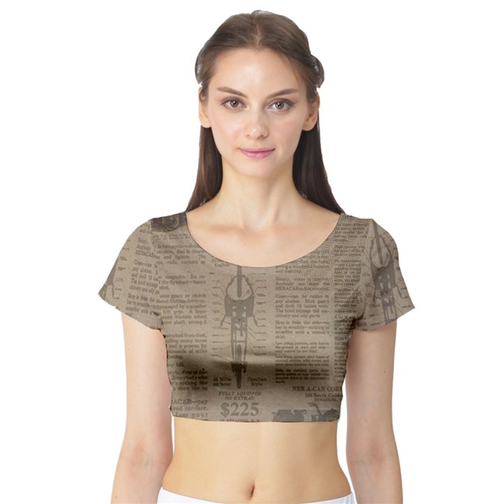 Background 1706636 1920 Short Sleeve Crop Top