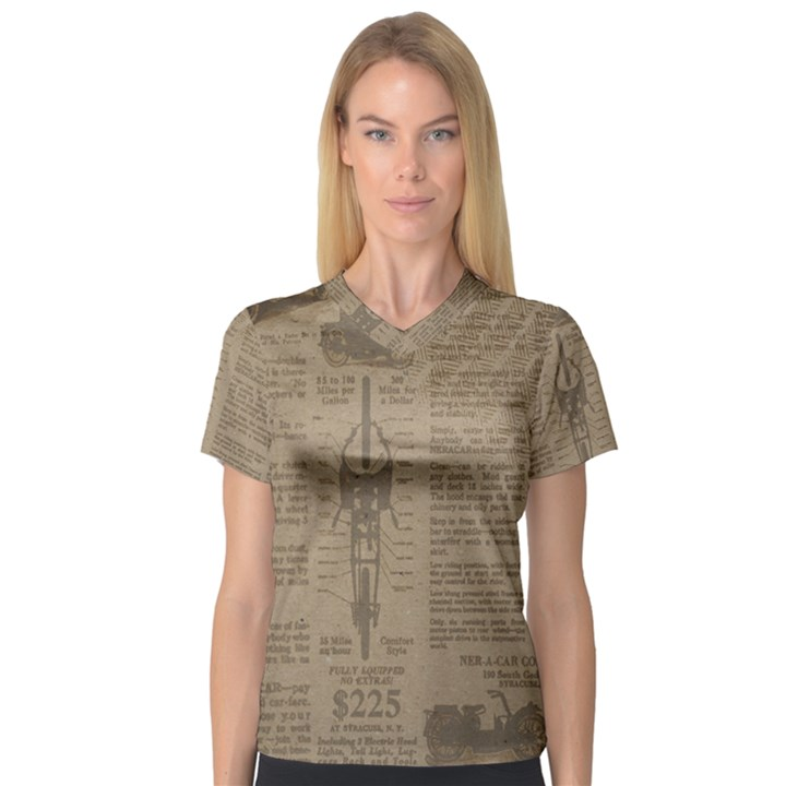 Background 1706636 1920 V-Neck Sport Mesh Tee