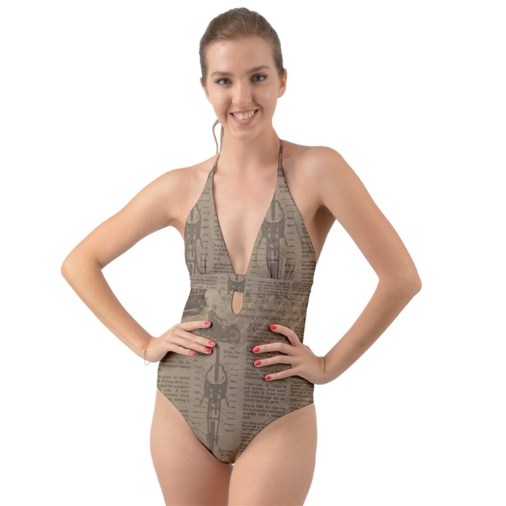 Background 1706636 1920 Halter Cut-Out One Piece Swimsuit