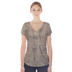 Background 1706636 1920 Short Sleeve Front Detail Top