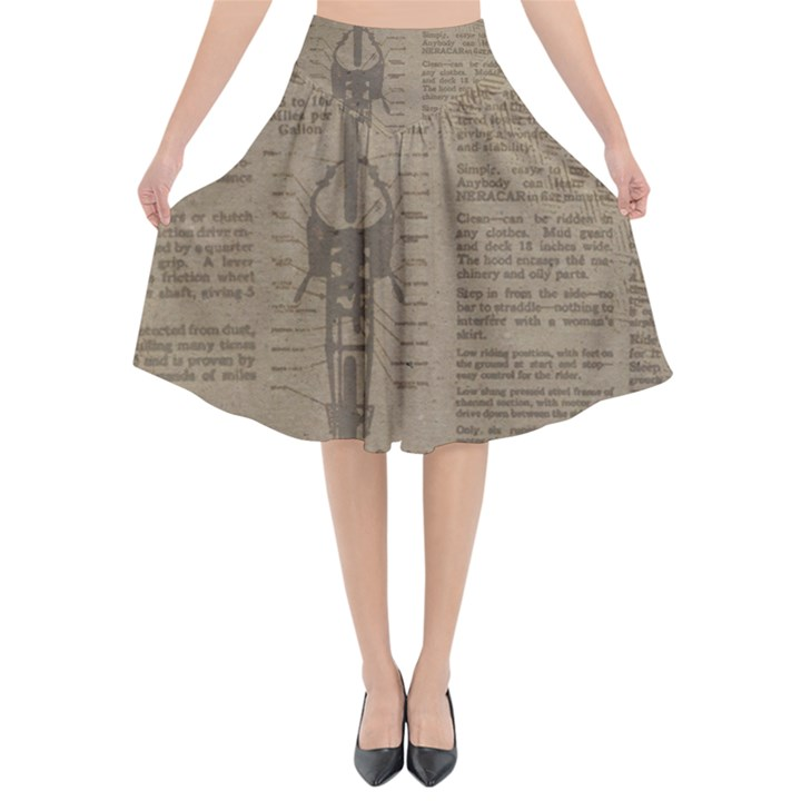 Background 1706636 1920 Flared Midi Skirt