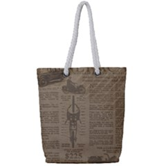 Background 1706636 1920 Full Print Rope Handle Tote (small)
