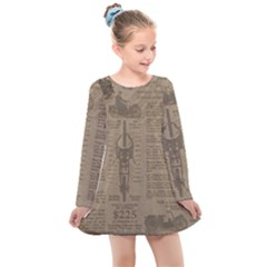 Background 1706636 1920 Kids  Long Sleeve Dress by vintage2030
