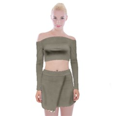 Background 1706644 1920 Off Shoulder Top with Mini Skirt Set