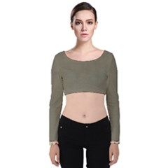 Background 1706644 1920 Velvet Long Sleeve Crop Top