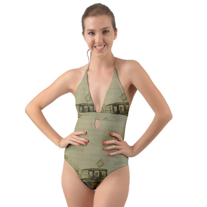 Background 1706642 1920 Halter Cut-Out One Piece Swimsuit