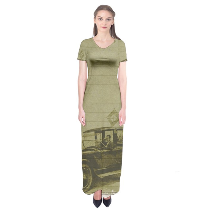 Background 1706642 1920 Short Sleeve Maxi Dress