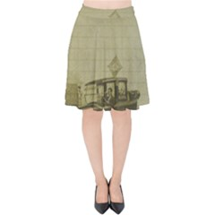 Background 1706642 1920 Velvet High Waist Skirt