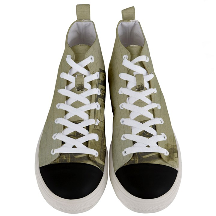 Background 1706642 1920 Men s Mid-Top Canvas Sneakers