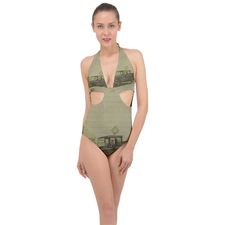 Background 1706642 1920 Halter Front Plunge Swimsuit