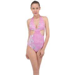 Tag 1659629 1920 Halter Front Plunge Swimsuit