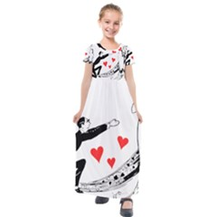 Manloveswoman Kids  Short Sleeve Maxi Dress