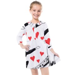Manloveswoman Kids  Quarter Sleeve Shirt Dress by vintage2030