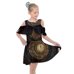 Steampunk 1636156 1920 Kids  Shoulder Cutout Chiffon Dress