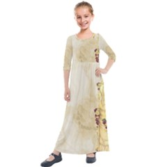 Background 1659622 1920 Kids  Quarter Sleeve Maxi Dress by vintage2030