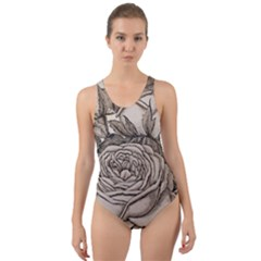 Flowers 1776630 1920 Cut-out Back One Piece Swimsuit by vintage2030