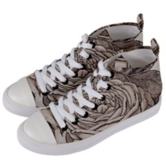 Flowers 1776630 1920 Women s Mid Top Canvas Sneakers by vintage2030