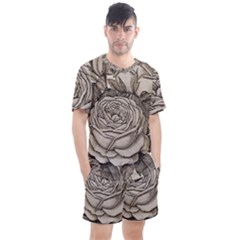 Flowers 1776630 1920 Men s Mesh Tee And Shorts Set by vintage2030