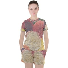 Flowers 1776434 1280 Women s Tee And Shorts Set