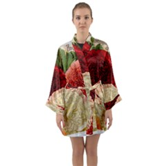 Flowers 1776584 1920 Long Sleeve Kimono Robe by vintage2030