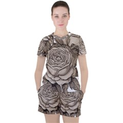 Flowers 1776626 1920 Women s Tee And Shorts Set by vintage2030