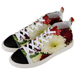 Flowers 1776585 1920 Men s Mid Top Canvas Sneakers by vintage2030