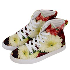 Flowers 1776585 1920 Men s Hi Top Skate Sneakers by vintage2030