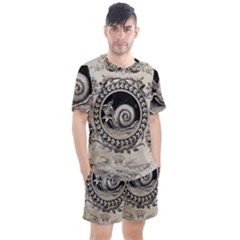 Snail 1618209 1280 Men s Mesh Tee And Shorts Set by vintage2030