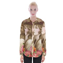 Vintage 1646083 1920 Womens Long Sleeve Shirt by vintage2030