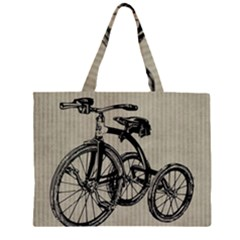 Tricycle 1515859 1280 Zipper Large Tote Bag by vintage2030
