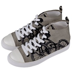 Tricycle 1515859 1280 Women s Mid Top Canvas Sneakers by vintage2030