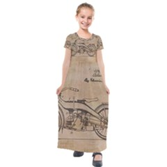 Motorcycle 1515873 1280 Kids  Short Sleeve Maxi Dress by vintage2030