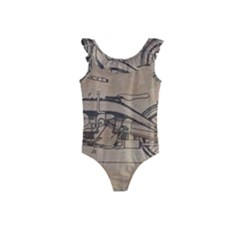 Motorcycle 1515873 1280 Kids  Frill Swimsuit