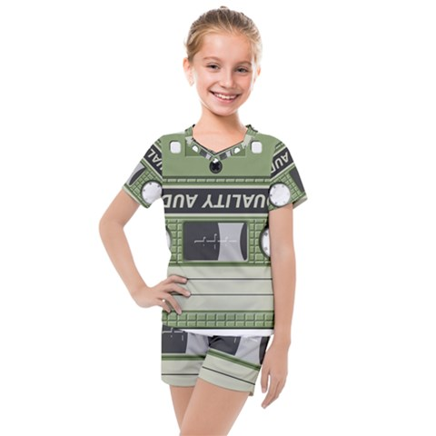 Cassette 40267 1280 Kids  Mesh Tee And Shorts Set by vintage2030